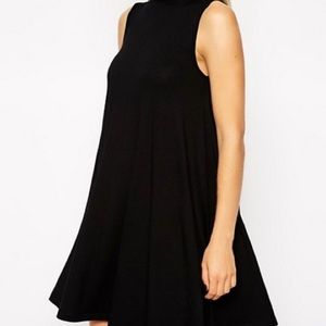 Turtleneck Swing Ribbed Dress
